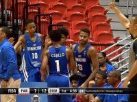 Seleccion Nacional Centro Basket U17 … Dominicana Despliega Su Portentosa Artilleria vs Panama …!!!