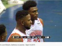 Liga Nacional De Baloncesto … En El Eleoncio Mercedes En La Romana .. Cañeros Les Dan Nalgadas A Leones … Galeria De Fotos.!!!