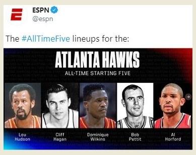 ALFRED JOEL HORFORD REYNOSO .. ESPN Expertos Del Baloncesto Lo Escogen … En Los Mejores 5 En La Historia De La Franquicia ATLANTA HAWKS.!!!