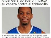 Gerardo Suero….Lesionado En Venezuela.!!!!