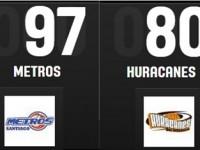 Metros Superan Huracanes 1er Juego Playoff Norte.!!!
