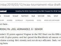 El Dominicano JOEL HERNANDEZ … NBA Draft 2018 … Sports Illustrated Le Ve Posibilidad Remota.!!!