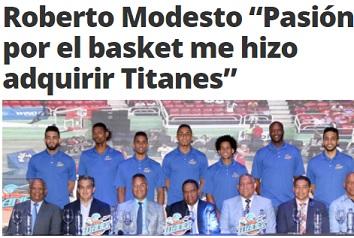 Roberto Modesto … LNB Le Peticiona Que Complete El Pago Por Compra De Titanes.!!!